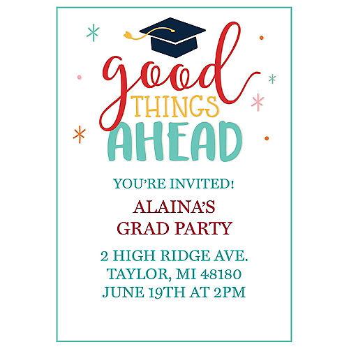 Custom Bright Future Graduation Invitations Image #1