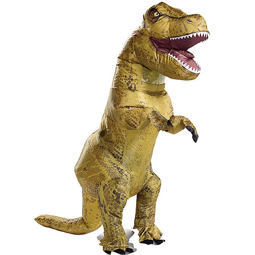 T-Rex Dinosaur Inflatable Costume for Adults - Jurassic World Image #1