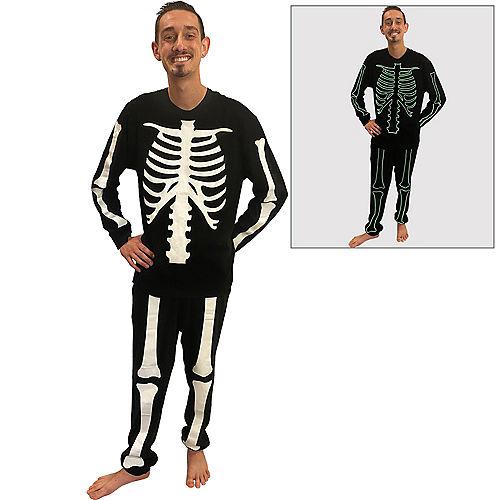 Glow-in-the-Dark Skeleton Pajamas for Men Image #1