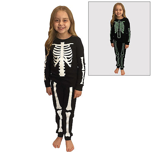 Glow-in-the-Dark Skeleton Pajamas for Kids Image #1