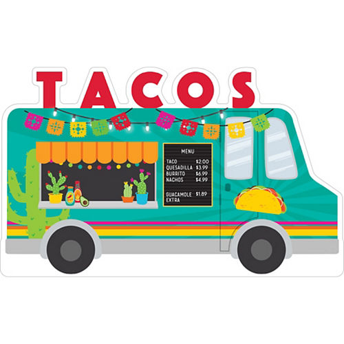 Taco Truck Cardboard Cutout, 36in x 22in - Fiesta Image #1