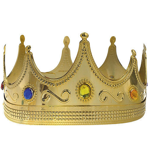 Adult jeweled king crown 8in x 4 12in party city adult jeweled king crown altavistaventures Gallery