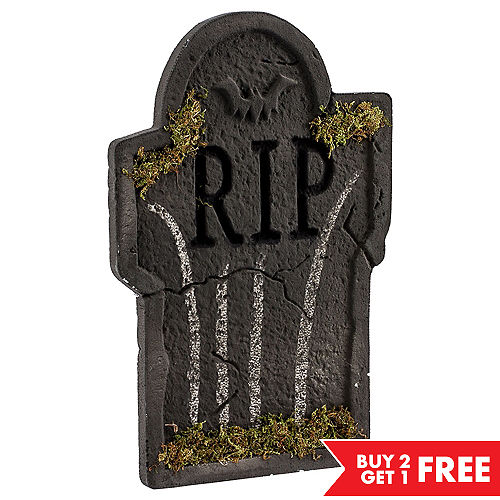 mossy bat tombstone decoration