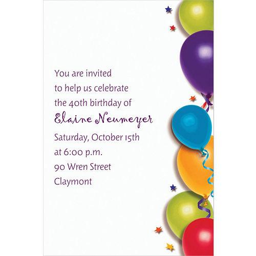 Custom balloon stars birthday invitations party city custom balloon stars birthday invitations stopboris Choice Image