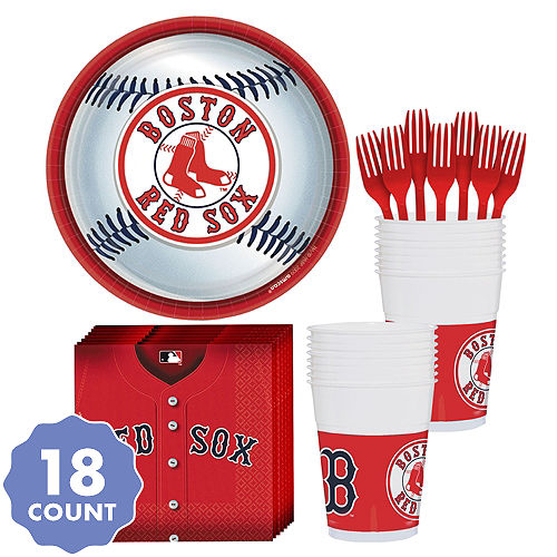 Boston Red Sox Party Kit For 18 Guests