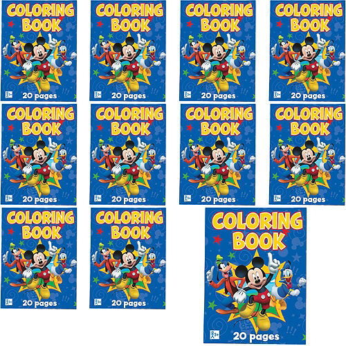 Mickey Mouse Coloring Books 48ct | Party City