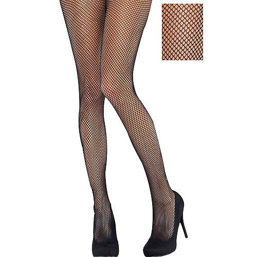 Adult Classic Black Fishnet Pantyhose