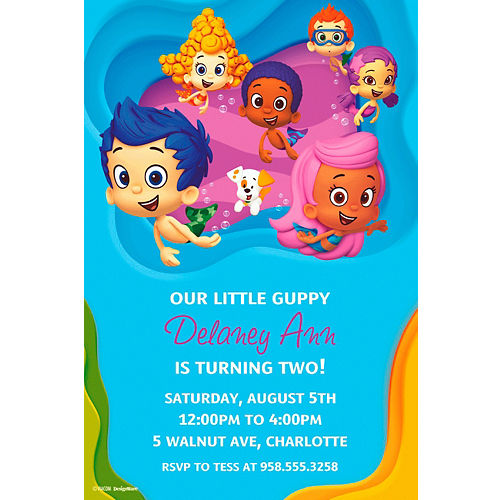 Bubble guppies party supplies bubble guppies birthday party city custom bubble guppies invitations maxwellsz