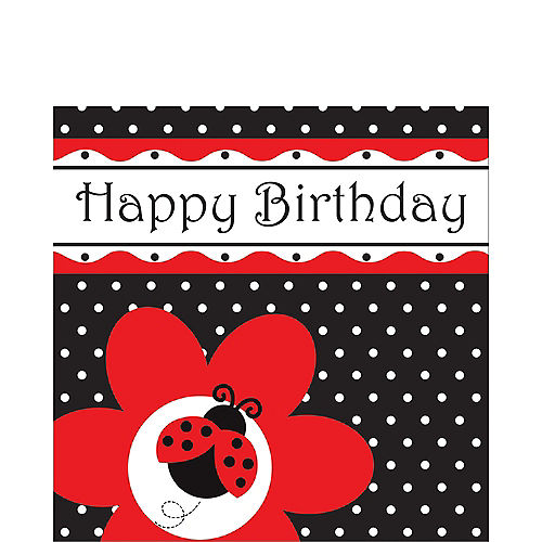 Happy Birthday Fancy Ladybug Lunch Napkins 16ct