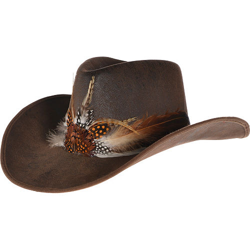 Feather Cowboy Hat Deluxe