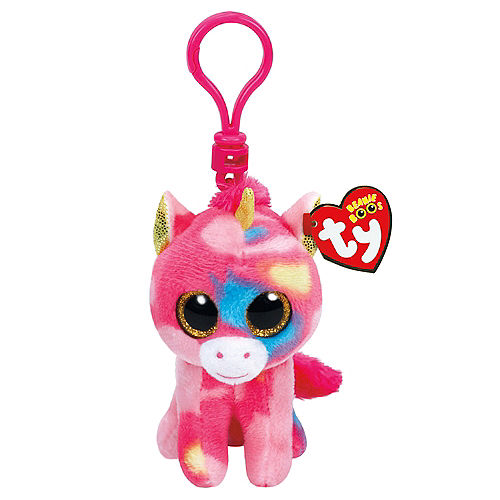 Clip On Fantasia Beanie Boo Unicorn Plush