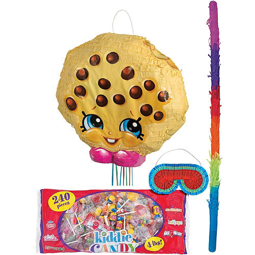 Pull String Kooky Cookie Pinata Kit 17in x 16in - Shopkins | Party City