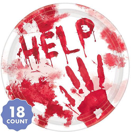 Bloody Hands Dessert Plates 18ct