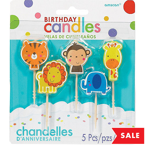 Jungle Birthday Toothpick Candles 5ct