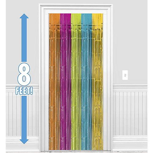 Multicolor Bright Fringe Doorway Curtain