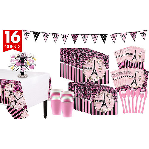 a670638777 A Day In Paris Tableware Kit for 16 Guests