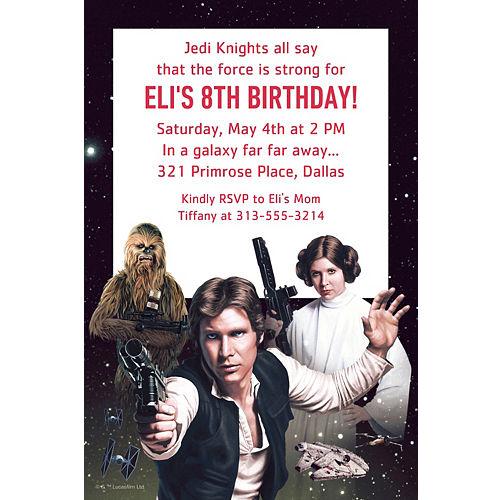 Custom Star Wars Invitation