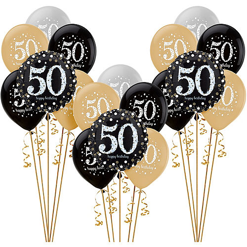 Sparkling Celebration 50th Birthday Balloon Kit