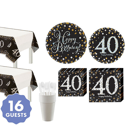 Sparkling Celebration 40th Birthday Party Kit For 16 Guests