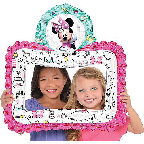 Inflatable Minnie Mouse Balloon Frame 26in x 27in | Party City
