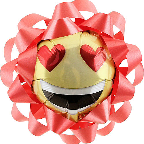 Smiley balloon gift bow 6in party city smiley balloon gift bow negle Image collections