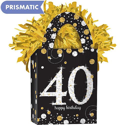 Prismatic 40th Birthday Balloon Weight