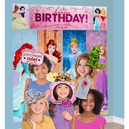 Disney Princess Scene Setter With Photo Booth Props Party City