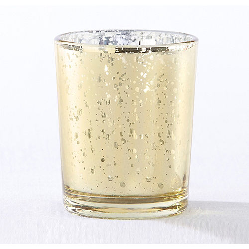 Gold Mercury Glass Votive Candle Holders 4ct | Party City