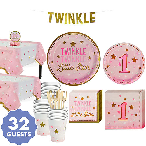9d81e3b0f Pink Twinkle Twinkle Little Star 1st Birthday Party Supplies   1st ...