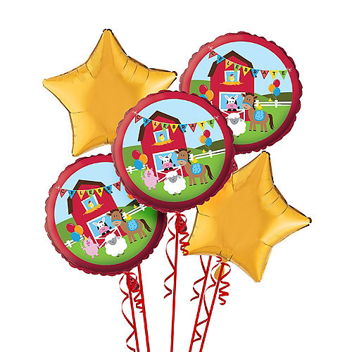 Farmhouse Fun Birthday Balloon Bouquet 5pc