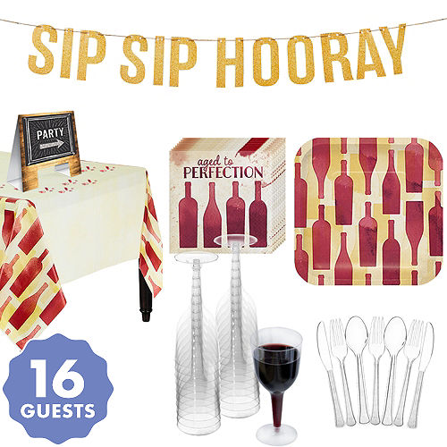 Sip Sip Hooray Party Supplies - Wine Theme Party | Party City Canada