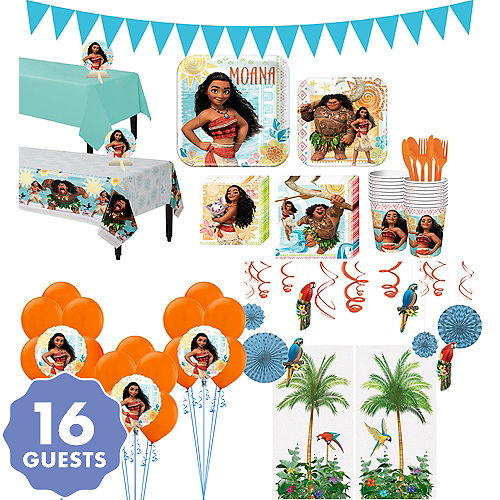 Moana Tableware Ultimate Kit For 16 Guests