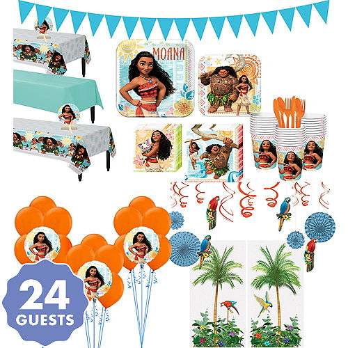 Moana Tableware Ultimate Kit For 24 Guests