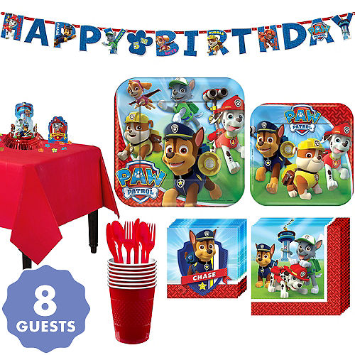 Paw Patrol Tableware Party Kit For 8 Guests