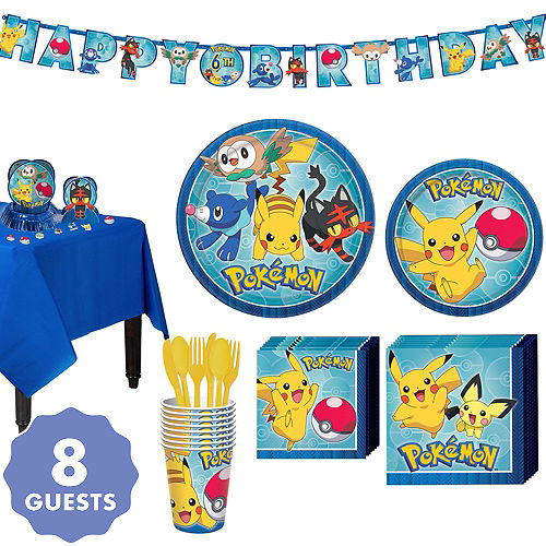 Pokemon Tableware Party Kit For 8 Guests