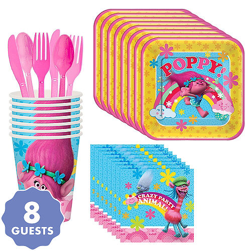 Trolls Tableware Party Kit For 8 Guests