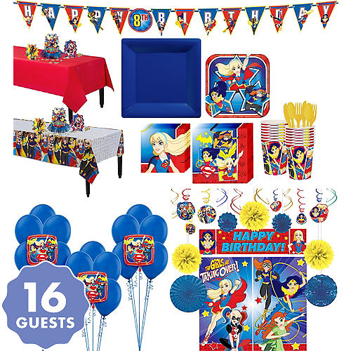 DC Super Hero Girls Tableware Ultimate Kit For 16 Guests