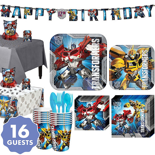 Transformers Tableware Party Kit For 16 Guests