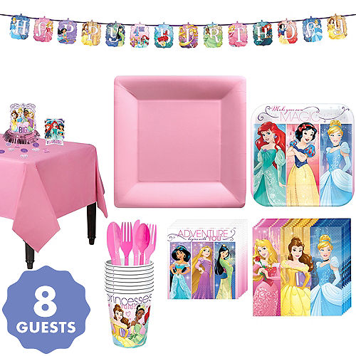 Disney Princess Tableware Party Kit For 8 Guests