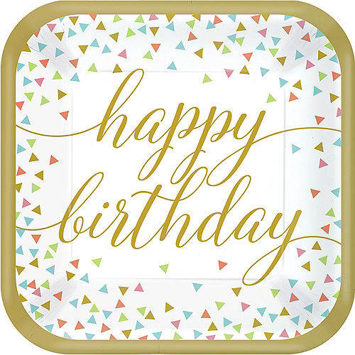 Confetti Fun Birthday Dinner Plates 18ct