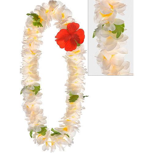 Hawaiian leis luau tinsel flower leis party city white plumeria lei mightylinksfo