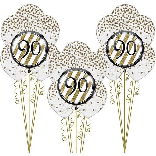 White Gold 90th Happy Birthday Balloon Kit