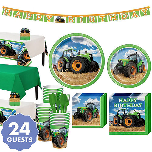 Tractor Tableware Party Kit For 24 Guests