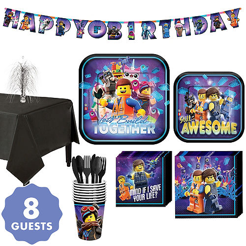 The LEGO Movie 2 Second Part Tableware Kit For 8 Guests