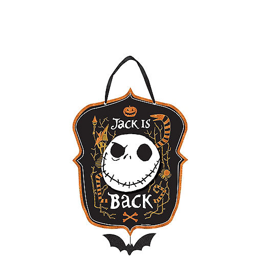 glitter jack skellington sign the nightmare before christmas - Party City Nightmare Before Christmas Decorations