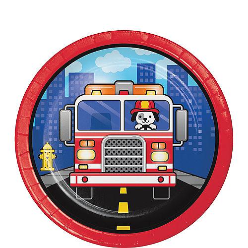 Fire Truck Dessert Plates 8ct