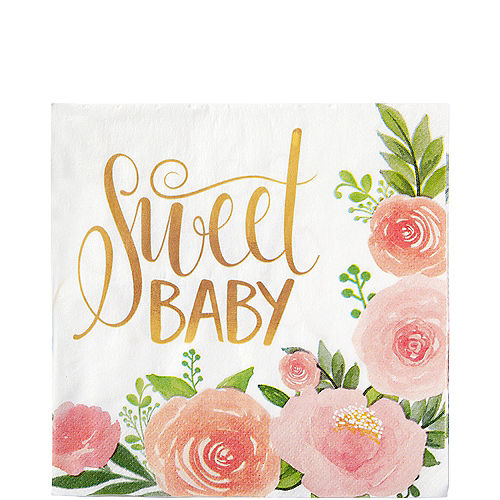 Floral Baby Lunch Napkins 16ct