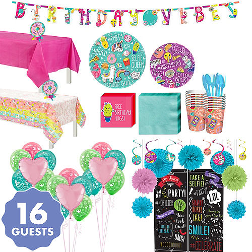 Selfie Celebration Ultimate Party Kit For 16 Guests