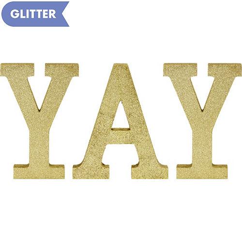 Glitter Gold Yay Sign Kit