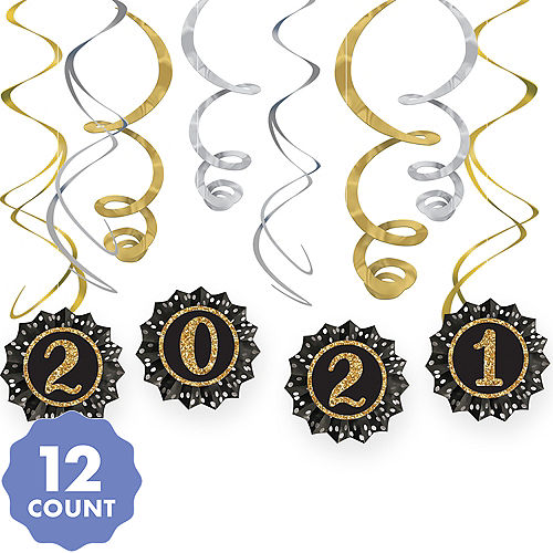 new years eve 2019 paper fan swirl decorations 12pc